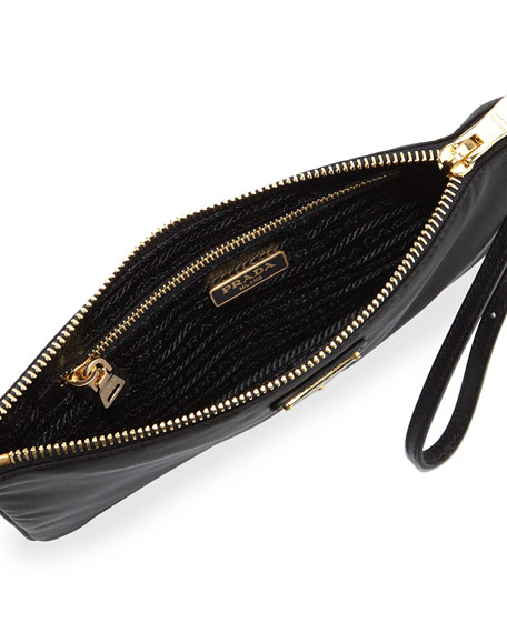 prada it bag - Prada Tessuto Small Wristlet Bag, Black (Nero)