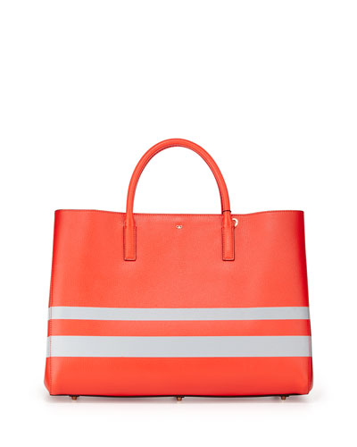Ebury Maxi Featherweight Tote Bag, Orange/Silver Reflective