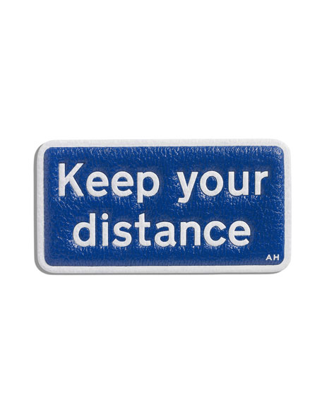 Keep Your Distance Sticker for Handbag, Blue