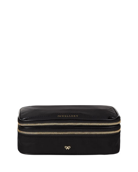 Anya Hindmarch Nylon Jewelry Pouch, Black