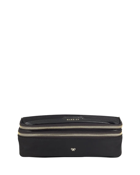 Anya Hindmarch Nylon Make Up Case, Black