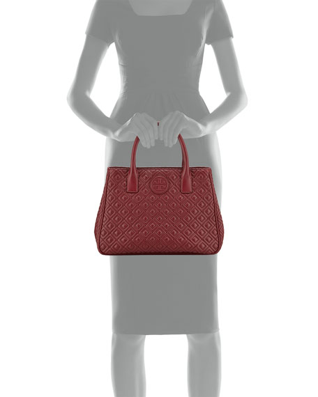Marion Quilted Tote Bag, Red Agate