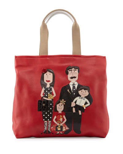Family Shopping Tote Bag