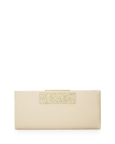 Arianna Beaded Minaudiere Evening Clutch Bag, Champagne