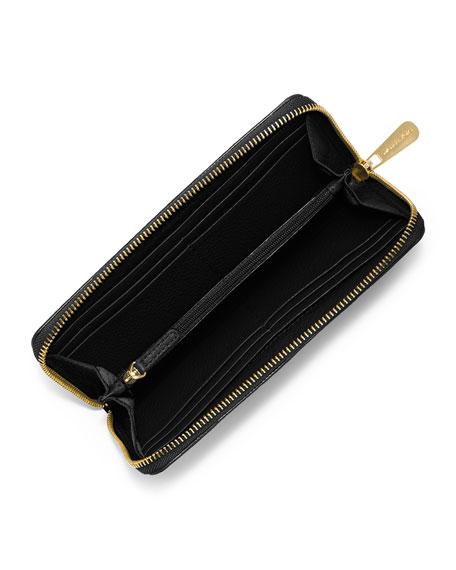 Fulton Zip-Around Continental Wallet, Black