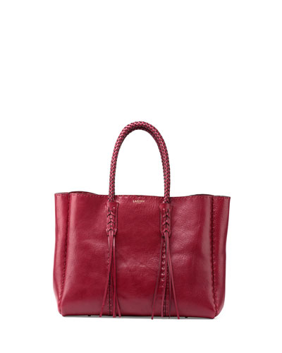 Nomad Woven-Handle Shopper Tote Bag, Cherry