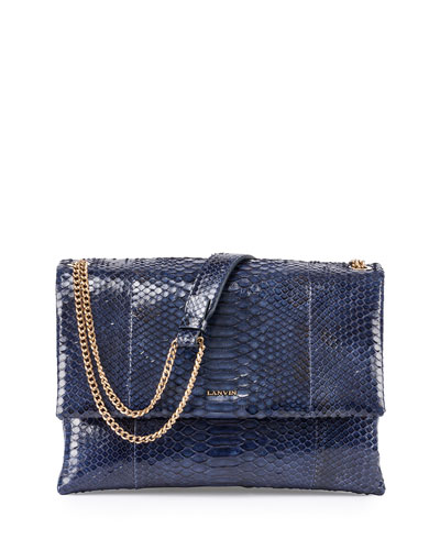 Happy Python Medium Shoulder Bag, Dark Blue