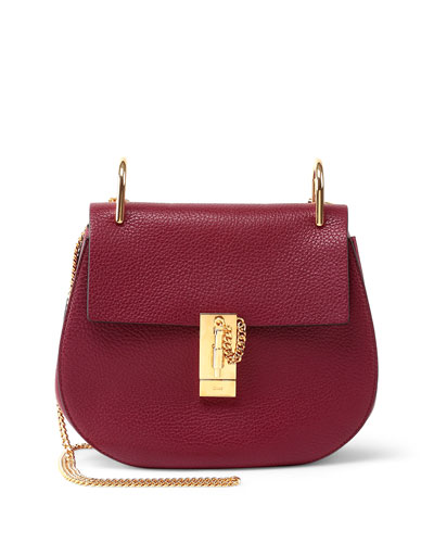 Drew Small Shoulder Bag, Wine