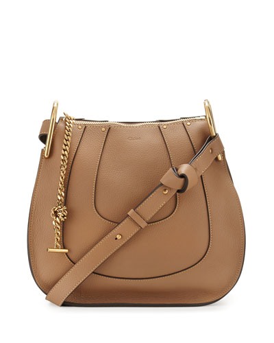 Hayley Small Hobo Bag, Nut