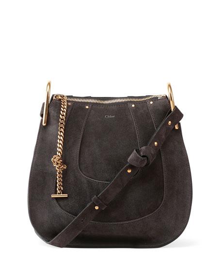 chloe leather bags - Chloe Hayley Small Suede Hobo Bag, Iron Gray