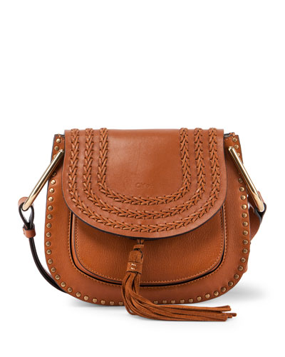 chloe medium hudson tassel leather shoulder bag