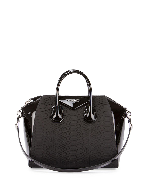Givenchy Antigona Python   Patent Satchel Bag 93882f5da1553