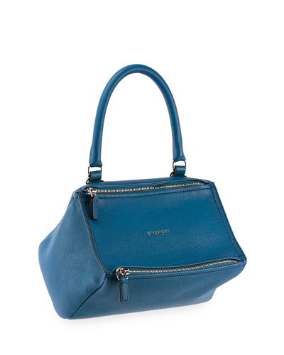 Pandora Small Leather Shoulder Bag, Blue