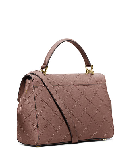 4c462e3401061e MICHAEL Michael Kors Ava Small Quilted Satchel Bag, Dusty Ro Ava Small  Quilted Satchel Bag, ...