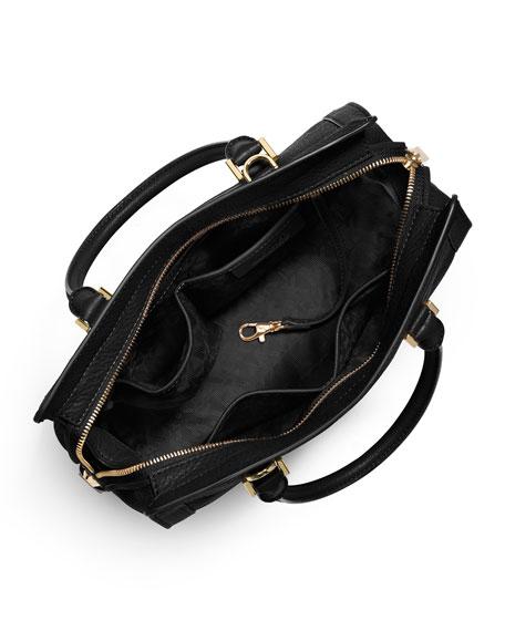 Collins Medium Satchel Bag, Black