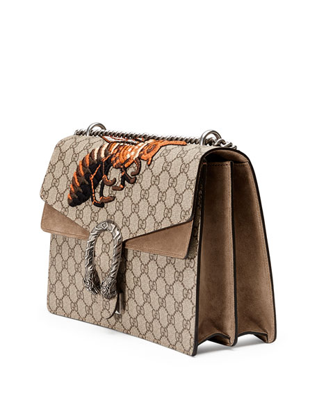 8cc8ff64646c Gucci Dionysus GG Supreme Canvas Embroidered Queen Bee Shoulder Bag |  Neiman Marcus