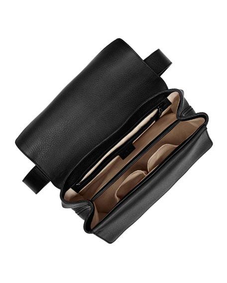 acc1c85c9 Gucci GG Marmont Medium Leather Shoulder Bag, Black | Neiman Marcus