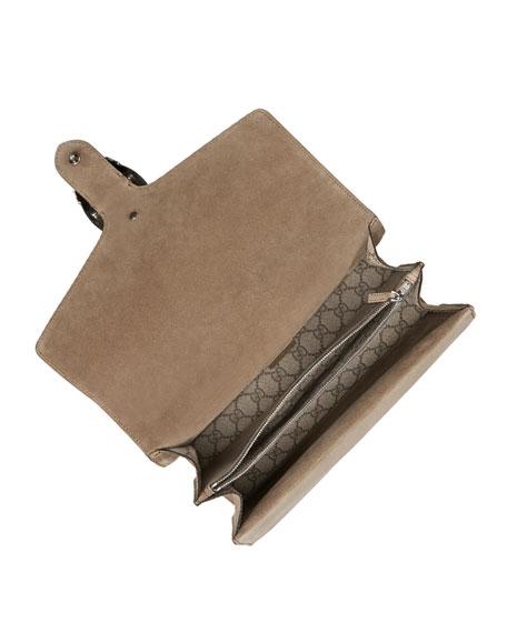 Gucci Dionysus GG Supreme Shoulder Bag, Ebony/Taupe