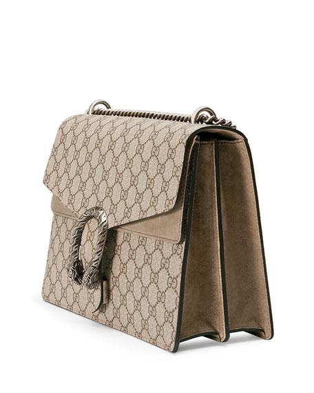 Dionysus GG Supreme Shoulder Bag, Ebony/Taupe