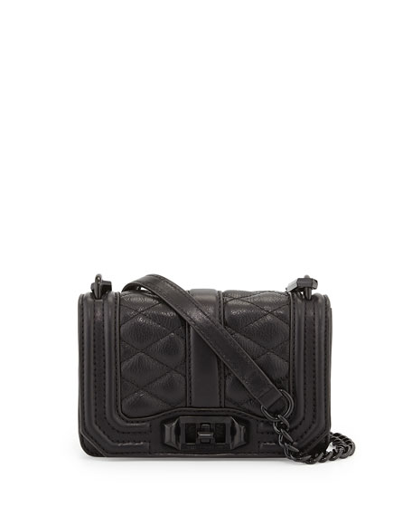 Rebecca Minkoff Mini Love Quilted Crossbody Bag Black