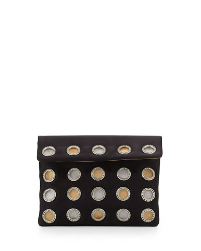 Luella Envelope Evening Clutch Bag, Black