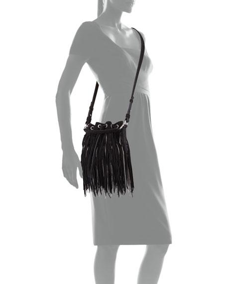 yves st.laurent wallet - Saint Laurent Emmanuelle Small Suede Fringe Bag, Black