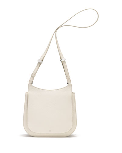 Hunting 11 Leather Shoulder Bag, Cream