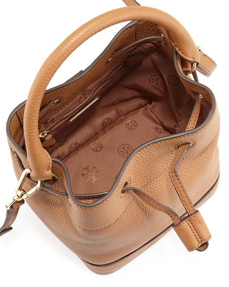 Robinson Mini Pebbled Bucket Bag, Tiger's Eye