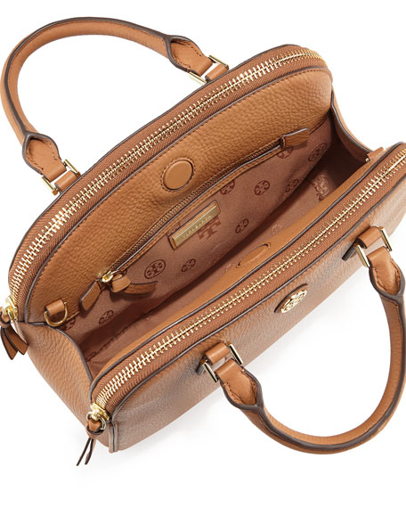 Robinson Small Pebbled Satchel Bag, Tiger's Eye