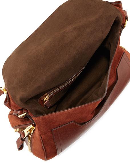 Jennifer Suede Shoulder Bag, Nutmeg