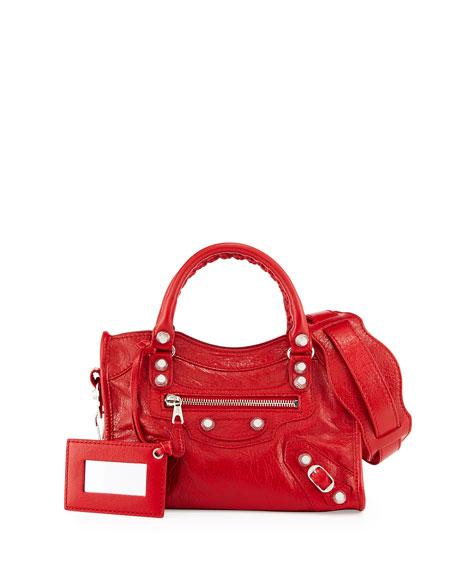 Balenciaga Giant 12 Golden City Mini Bag, Red