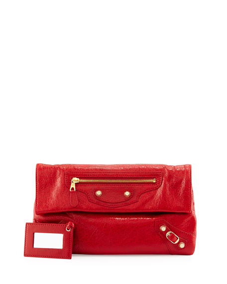 Balenciaga Giant 12 Envelope Clutch Bag, Red