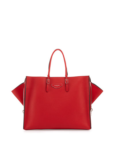 Papier Large Zip-Around Tote Bag, Red