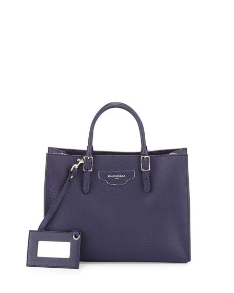 Papier Small Zip-Around Tote Bag, Blue