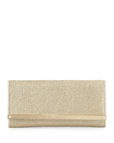 Milla Large Glitter Clutch Bag, Anthracite