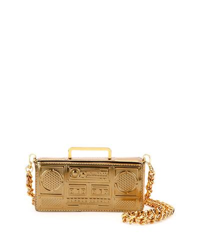 Boom Box Shoulder Bag, Gold