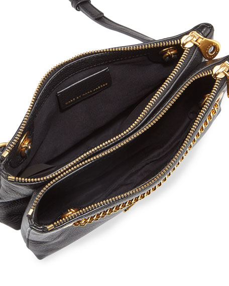 New Too Hot to Handle Double-Decker Crossbody Bag, Black