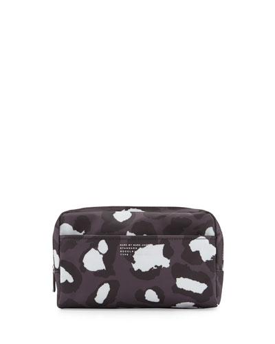 Leopard-Print PVC Cosmetics Case