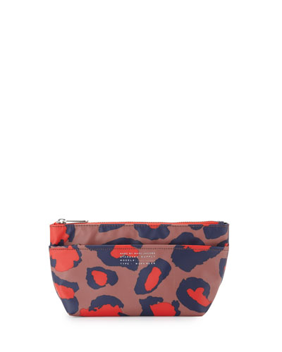 Perfect Animal-Print Pouch, Arizona Clay Multi
