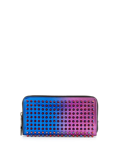 Panettone Scarabe Spike Stud Continental Wallet, Rose