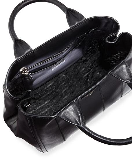 parada handbags - Prada Soft Calfskin Medium Garden Bag, Black (Nero)