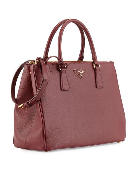 d07e9c6cfa62 Prada Saffiano Lux Double-Zip Tote Bag, Red (Cerise)