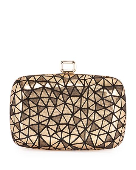 Maxi Botie De Nuit Prism Clutch Bag, Gold/Black