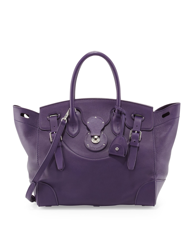 e21d1ba9f2 Soft Ricky 33 Calfskin Satchel Bag, Purple