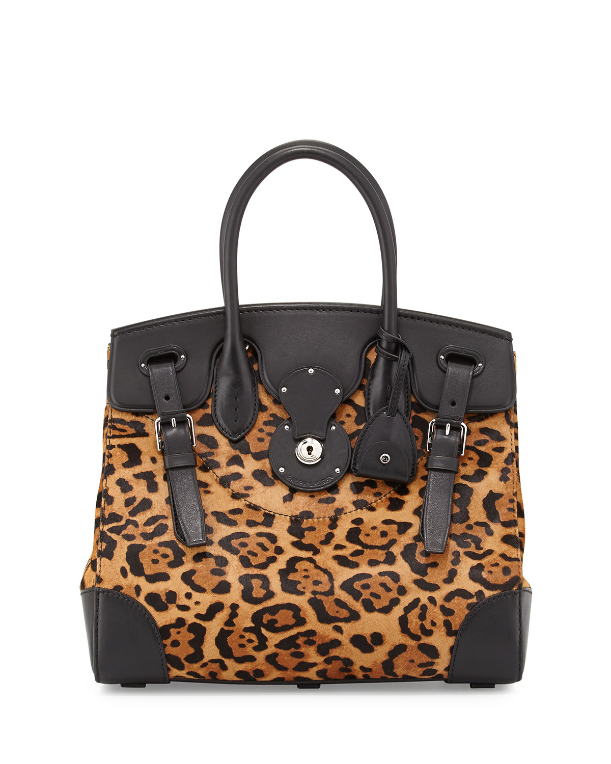 1b037d7372 Ralph Lauren Soft Ricky 33 Leopard-Print Calf Hair Satchel Bag ...