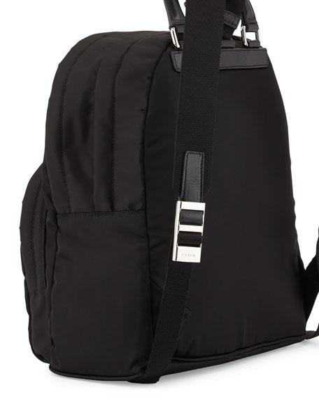 Nylon Medium Dome Backpack, Black (Nero)