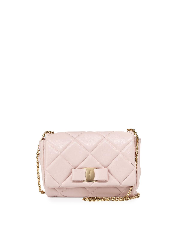 Salvatore Ferragamo Miss Vara Quilted Mini Crossbody Bag 502ae9b06ba3a