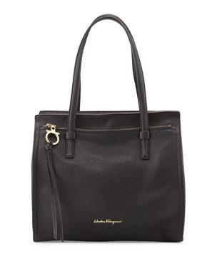 Salvatore Ferragamo Medium Leather Tote Bag, Nero 8aa892d16a