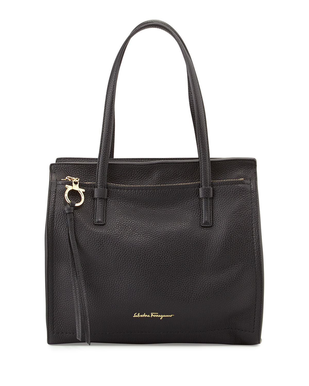 6d0f7f9552d7 Salvatore Ferragamo Medium Leather Tote Bag
