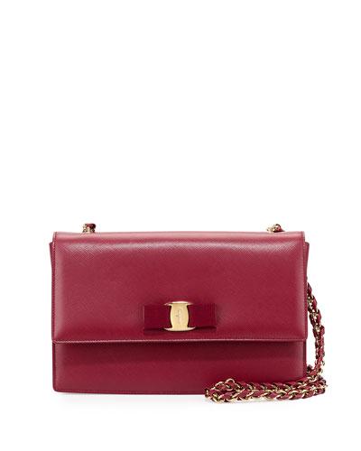Ginny Vara Crossbody Bag, Vino/Gold